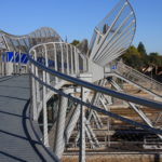 Pedestrian Bridge France Overlooking Railway